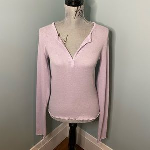 UO Out From Under Light Purple Thermal, L